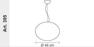 globe suspension lamp dimensions, lamps shop Progetto Luce