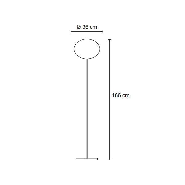 white globe floor lamp dimensions, lamps shop Progetto Luce