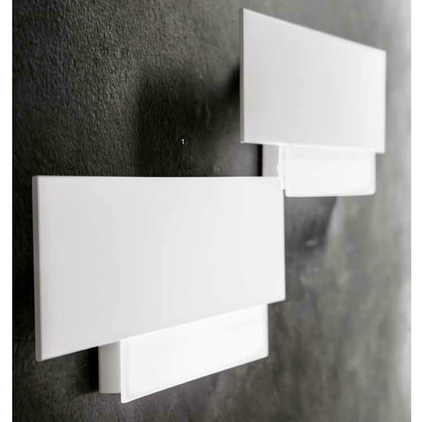 Gea Luce white wall lamp, lamps shop Progetto Luce