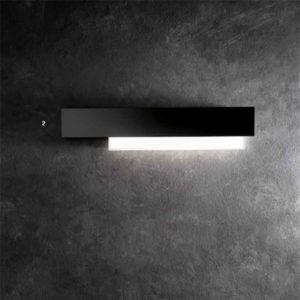 lampada da parete nera, negozio lampadari Progetto Luce