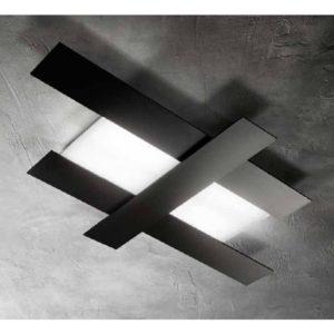 Gea Luce black ceiling lamp, lamps shop Progetto Luce