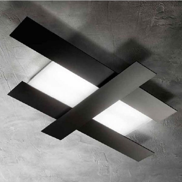 Gea Luce black ceiling lamp, lamps shop Progetto Luce