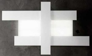 Gea Luce white ceiling lamp, lamps shop Progetto Luce