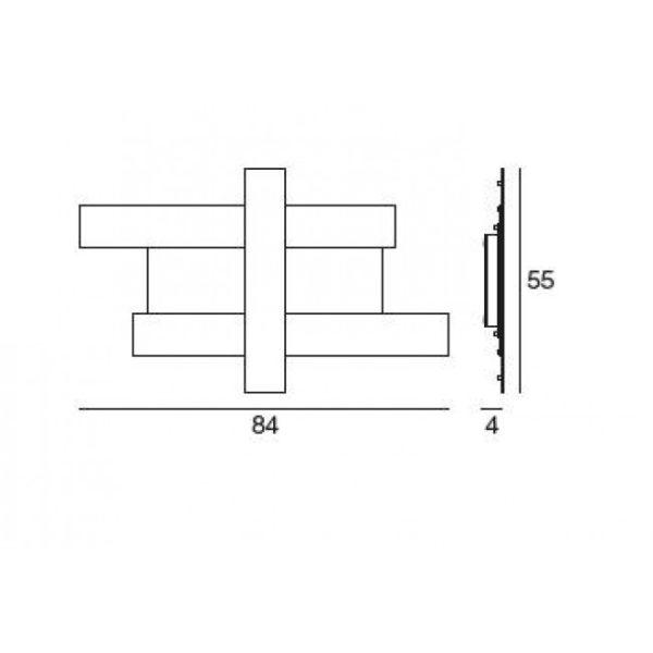 Gea Luce ceiling lamp dimensions, lamps shop Progetto Luce