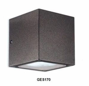 Gea Luce outdoor charcoal grey wall lamp, lamps shop Progetto Luce