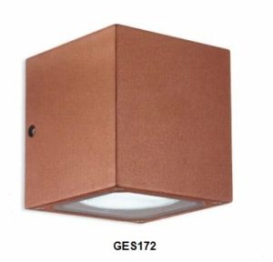 Gea Luce outdoor rust wall lamp, lamps shop Progetto Luce