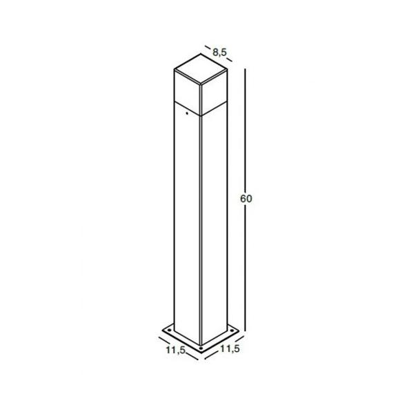 Gea Luce garden lamppost dimensions, lamps shop Progetto Luce