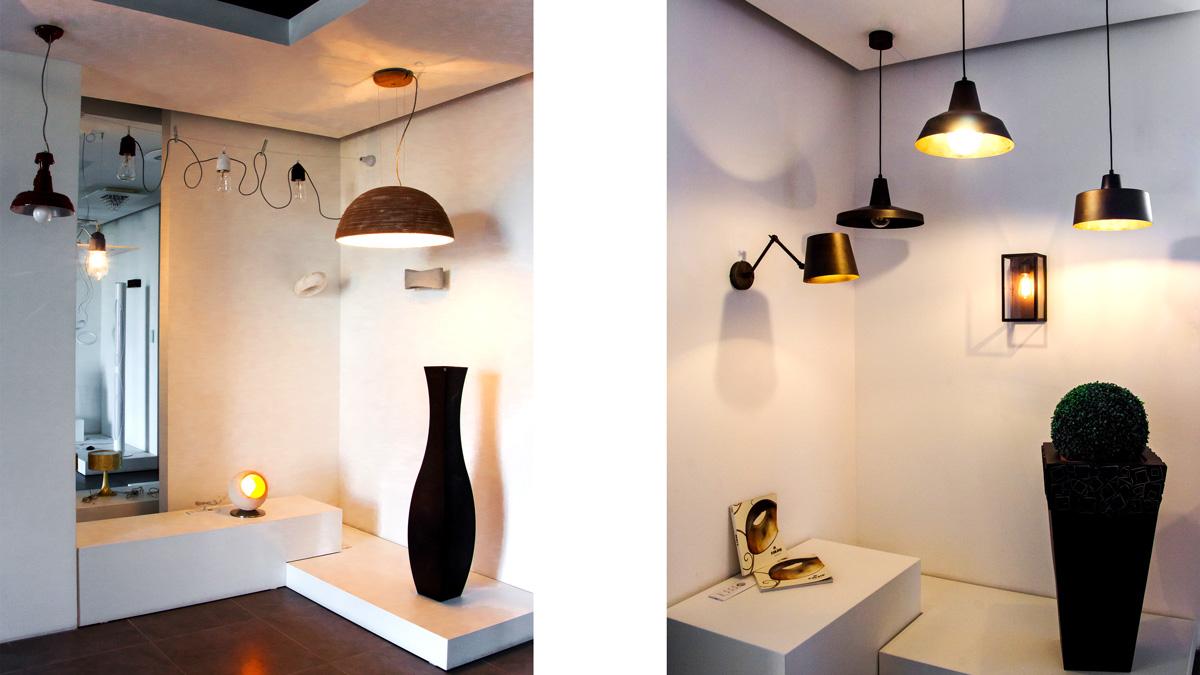 Negozio lampadari e lighting design progetto luce