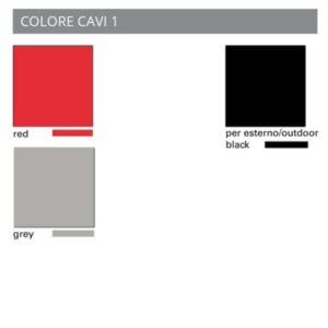 tabella colori cavo lampade Toscot, negozio lampadari Progetto Luce