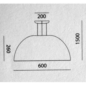misure lampada a sospensione Toscot, negozio lampadari Progetto Luce