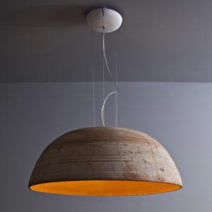 lampada a sospensione terracotta Toscot, negozio lampadari Progetto Luce