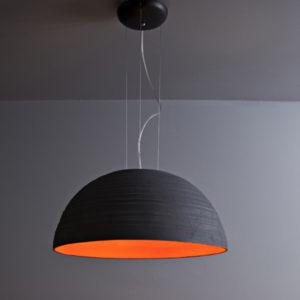 lampada a sospensione nera Toscot, negozio lampadari Progetto Luce