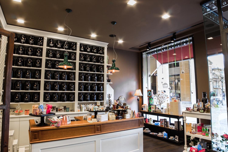 progetto lighting design Bibliotè, negozio lampadari Progetto Luce