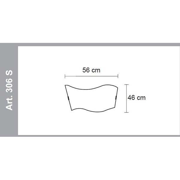 Ceiling and wall lamp classic 306S dimensions, lamps shop Progetto Luce