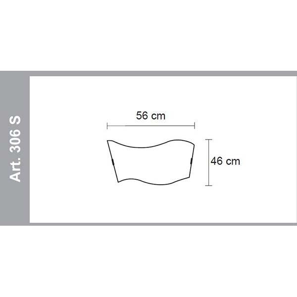misure lampada soffitto- parete classic 306S, negozio lampadari Progetto Luce