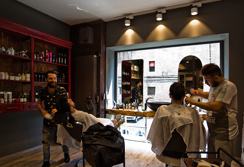 Progetto Illuminotecnico barber shop New Deal-1