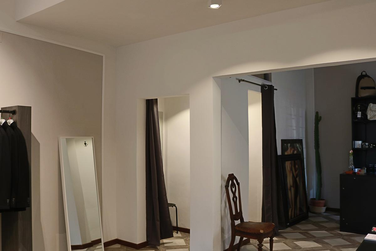 progetto lighting design negozio abbigliamento bologna, negozio illuminazione Progetto Luce