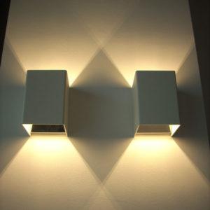lampada da parete cubetto led 970, negozio lampadari Progetto Luce