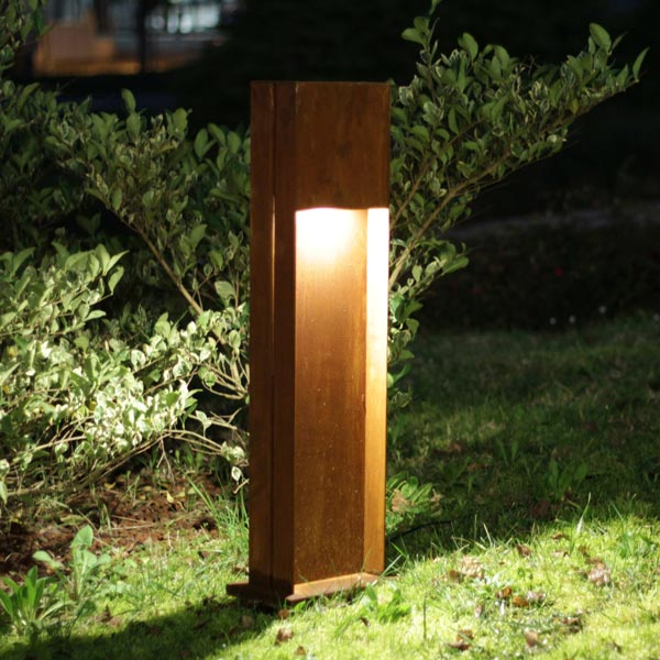 Corten led outdoor lamp