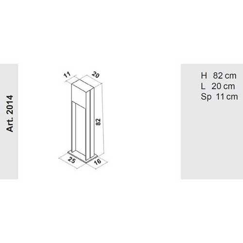 Progetto Luce garden lamppost dimensions, lamps shop Progetto Luce