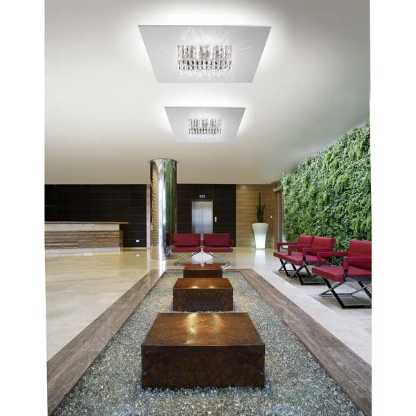 ceiling lamp quinta crystals, lamps shop Progetto Luce