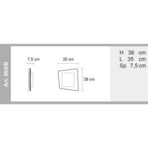 misure lampada a parete e soffitto askew 864, negozio lampadari Progetto Luce