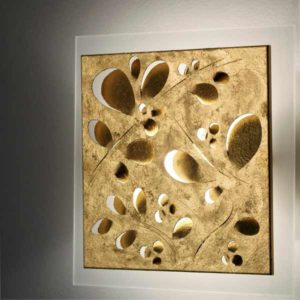 wall lamp fronds 434 gold leaf, lamps shop Progetto Luce