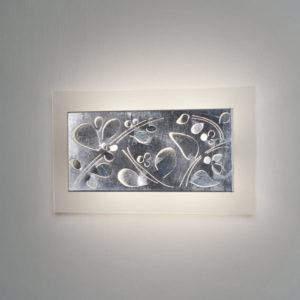 lampada twig 436 foglia argento, negozio lampadari Progetto Luce