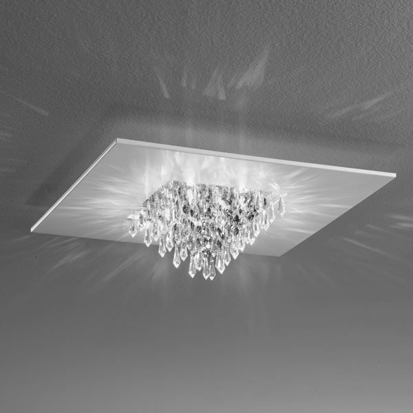 ceiling lamp quinta crystals gems, lamps shop Progetto Luce