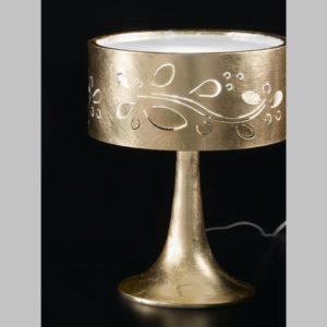 lampada da tavolo leaves oro, negozio lampadari Progetto Luce