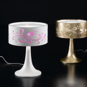 lampada da tavolo leaves, negozio lampadari Progetto Luce