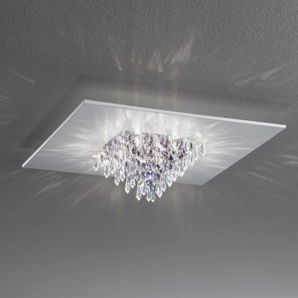 lampada da soffitto quinta crystal pendagli pari, negozio lampadari Progetto Luce