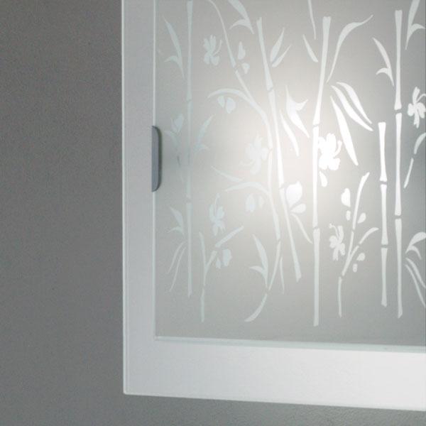 lampada bamboo 431 bianco, negozio lampadari Progetto Luce