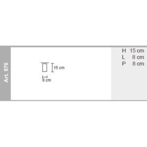 misure lampada da soffitto tubo quadro, negozio lampadari Progetto Luce