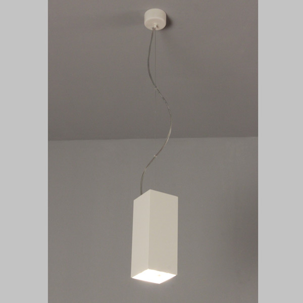suspension lamp square pipe, lamps shop Progetto Luce