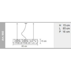misure lampada a sospensione leaves 960, negozio lampadari Progetto Luce