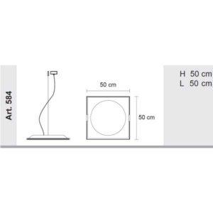 misure lampada pool 584, negozio lampadari Progetto Luce