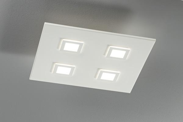 lampada square 1003 bianca, negozio lampadari Progetto Luce