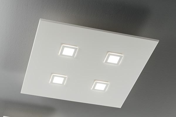 lampada square 1044 bianca, negozio lampadari Progetto Luce