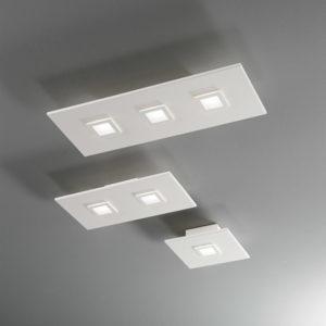 lampada polygon 1047-1048-1050 bianca, negozio lampadari Progetto Luce