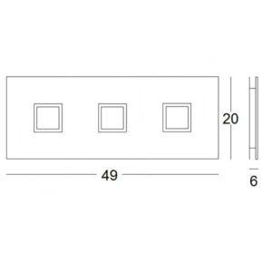 misure lampada soffitto polygon 1050, negozio lampadari Progetto Luce