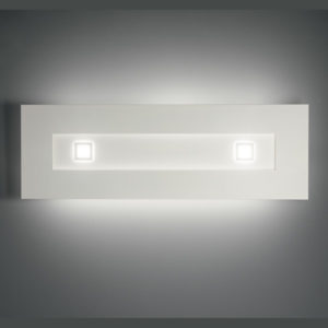 lampada square 1060 bianco, negozio lampadari Progetto Luce