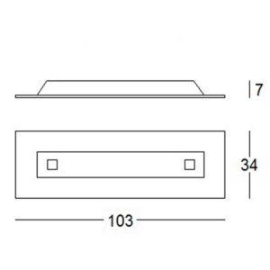misure lampada soffitto square 1060, negozio lampadari Progetto Luce
